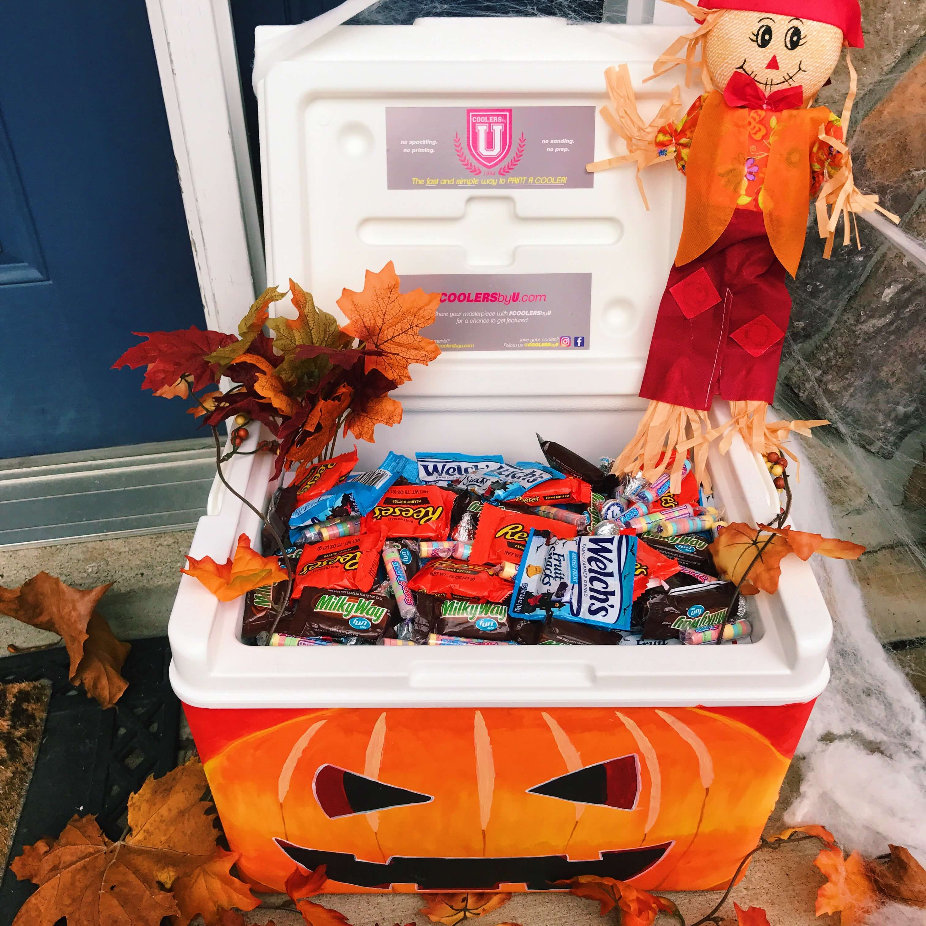 not going to be home for halloween? trick or treaters will love this
